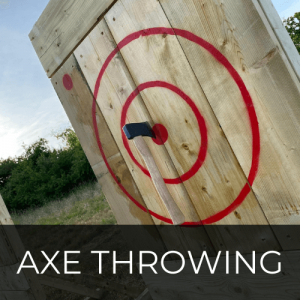 Axe Throwing at Kinross Outdoor Activity Centre, Perthshire, Scotland - Fun for all the family - Corporate Days