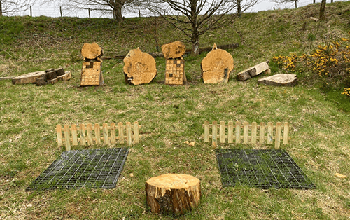 Axe Throwing at Kinross Outdoor Activity Centre in Perthshire, Scotland