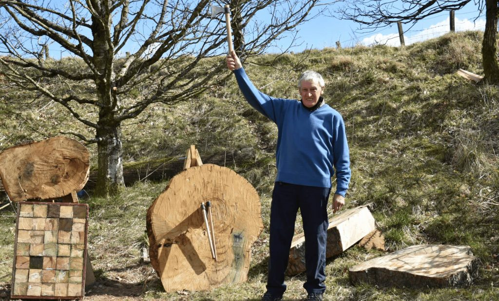 Axe Throwing, Rifle Target Shooting, Archery, Fishing and Laser Clay Shootingn at Kinross Outdoor Activity Centre, Perthshire