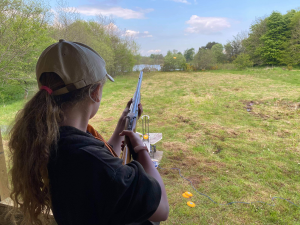 Laser Clay Tag Rifle Shooting at Kinross Activity Centre and Trout Fishery, Perthshire