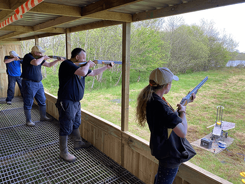 Laser Clay Tag Clay Shooting at Kinross Outdoor Activity Centre, Kinross, Scotland. Great days out with the family in Perthshire and Tayside.