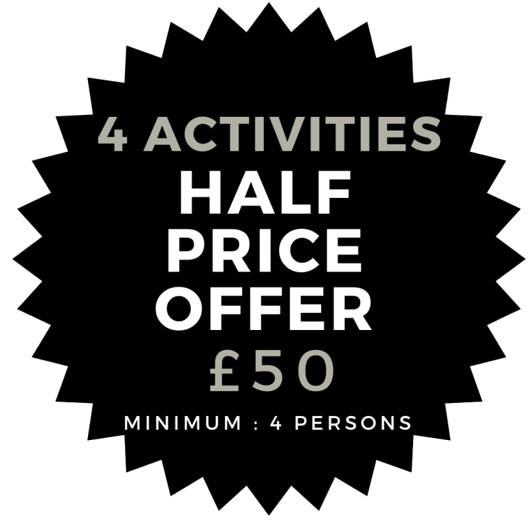 Try 4 Outdoor Activities at Kinross Activity Centre for only £50 Special Winter Offer - Archery, Axe Throwing, Laser Clay Shooting and Air Rifle Shooting